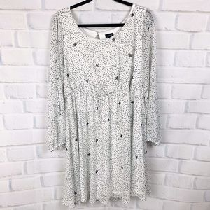 Torri Star Print Cold Shoulder Dress I 1X